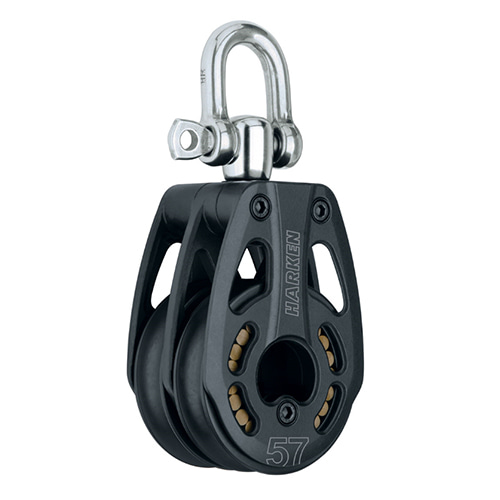 57 mm Aluminum Double Block — Swivel (No.3217) Harken